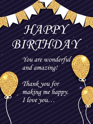 wonderful  amazing happy birthday wishes card