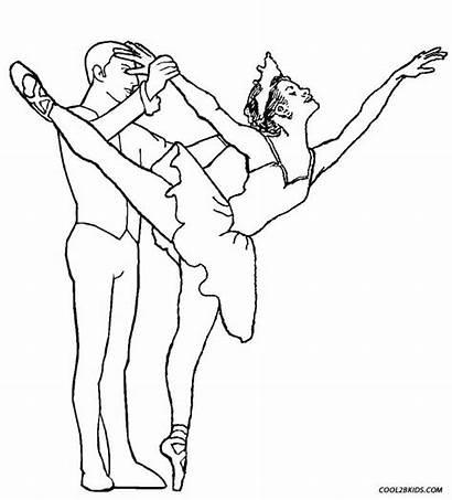 Ballet Ballerina Coloring Pages Printable Dance Nutcracker