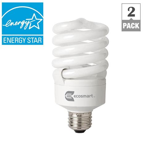 ecosmart 100w equivalent daylight 6500k spiral dimmable