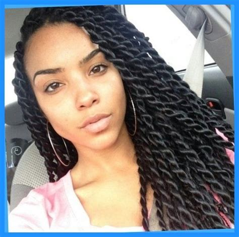 Silky Twists Hairstyles by Large Senegalese Twists For The Curls