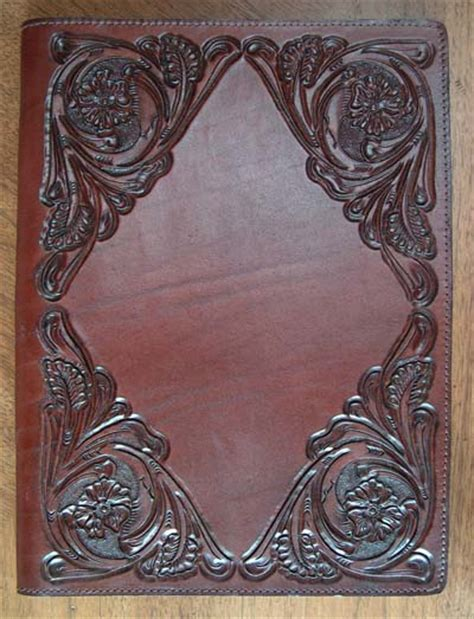hand tooled leather portfolio western passion