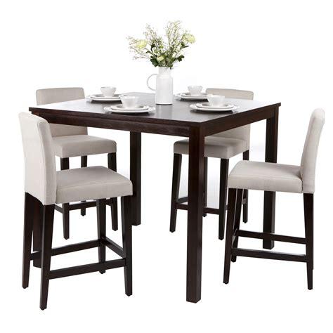 chaise pour cuisine ensemble table de bar 4 chaises hautes en bois de