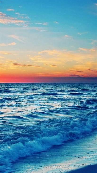 Beach Pretty Wallpapers Ocean Iphone Sunset