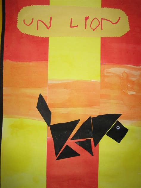 tangram lion cirque pinterest activities