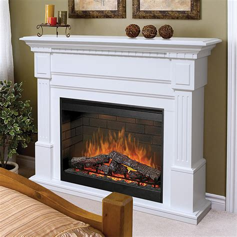 dimplex sussex electric fireplace mantel package  white