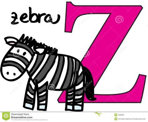 Animal Alphabet Z (zebra) Stock Vector. Illustration Of