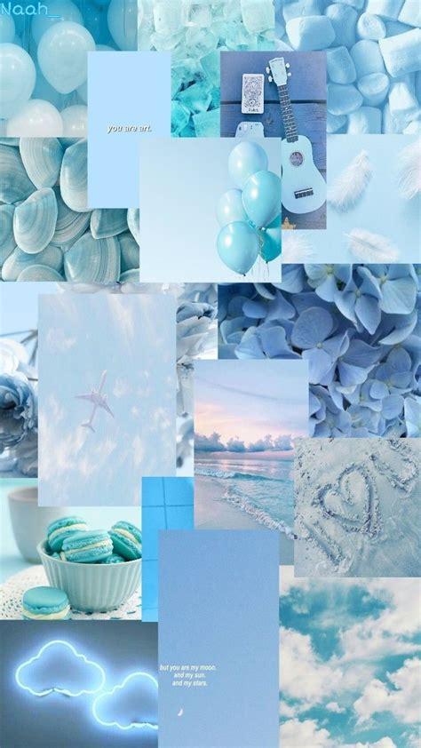 gambar aesthetic warna biru pastel