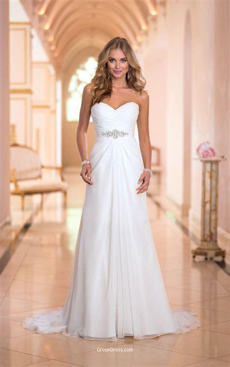 chiffon wedding gown a line strapless sweetheart stunning ivory chiffon wedding dress groupdress