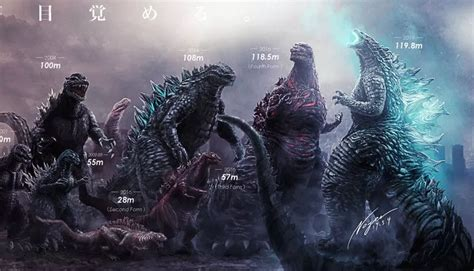 Artist's Epic Godzilla Size Chart Highlights How Much The