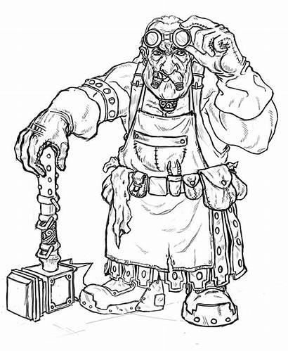 Dwarf Blacksmith Sketch Dwarves Fantasy Sketches Armor