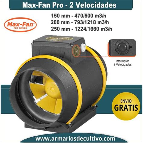max fan pro series extractor max fan pro series 2 velocidades can fan