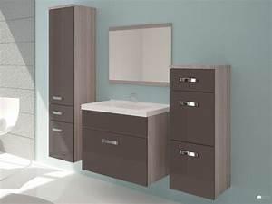 meuble de salle de bain chocolat achat en ligne With vente unique meuble salle de bain