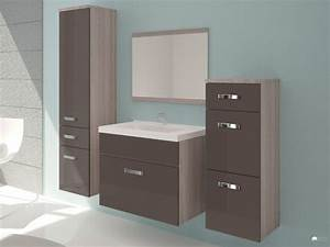 meuble de salle de bain chocolat achat en ligne With vente flash meuble salle de bain