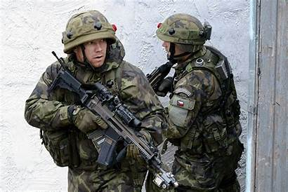 Czech Army Participating Combined Soldiers Those Resolve