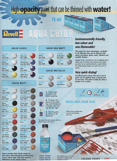 revell enamel paint colour chart home painting