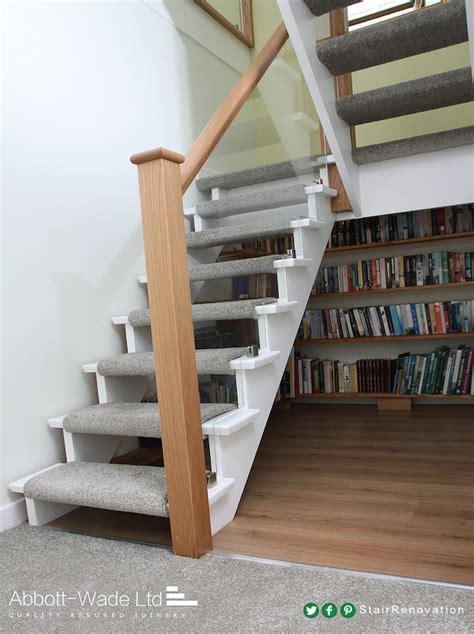 Open tread cut string staircase renovation   Flipper