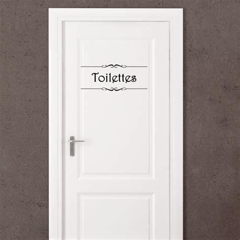 sticker porte quot salle de bain quot et quot toilettes quot stickers citations fran 231 ais ambiance sticker