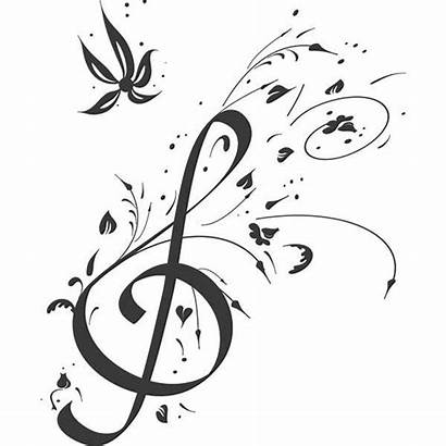Clef Treble Coloring Note Floral Notes Musical
