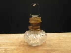 vintage aladdin clear glass textured oil l base brass