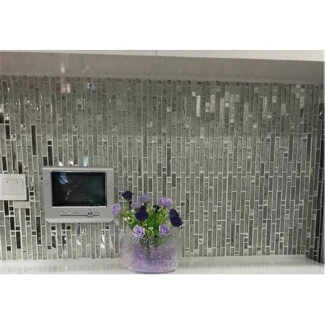 Glass and metal tile backsplash ideas bathroom stainless