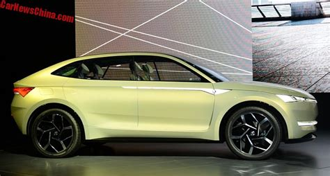 Upcoming Electric Suv by The Skoda Vision E Previews A Sporty Electric Suv Coupe