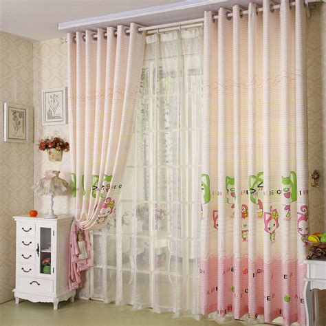 patterned nursery pink children curtains