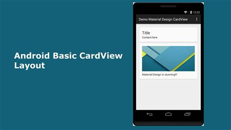 android basic cardview layout youtube
