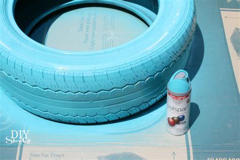 outdoor primer paint diy tire planter tutorialdiy diy decorating