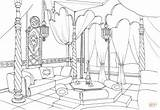 Coloring Room Living East Pages Colouring Drawing Printable Broom Interior Drawings Template Sketch Styles sketch template