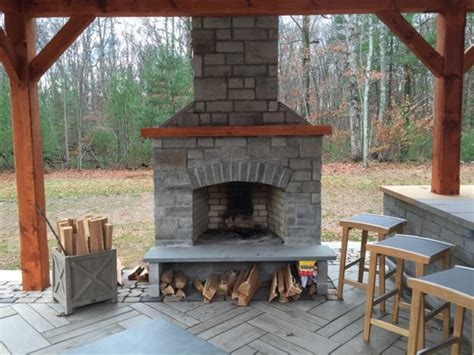 outdoor fireplace kit masonry outdoor fireplace stone