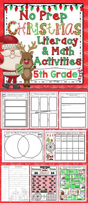 christmas activities 5th grade fifthgradeflock com