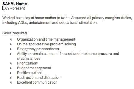 Chronological Resume For Stay At Home by The Gap In My Resume From Being A Stay At Home Work