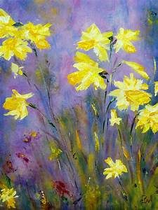 Spring Daffodils Painting by Claire Bull