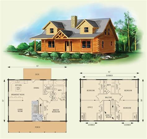 Small Two Story Cabin Plans by Northridge I Log Home And Log Cabin Floor Plan I Would