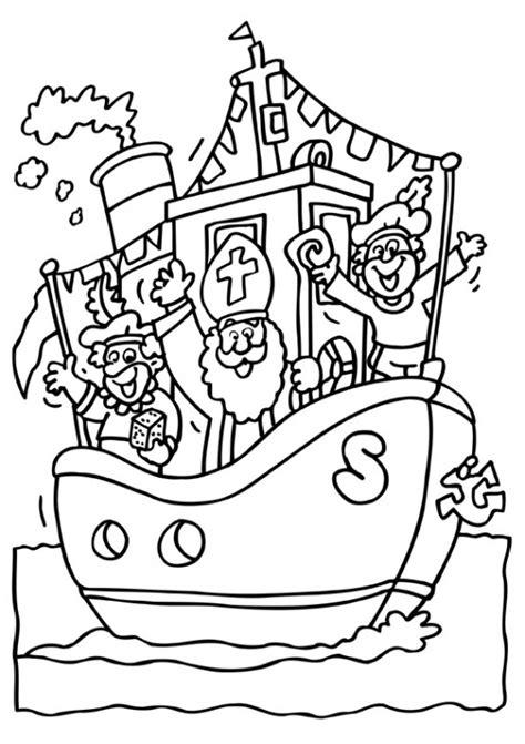 Kleurplaat Sinterklaas 2016 Afdrukken by Kleurplaat Sinterklaas Kleurplaat Sinterklaas Stoomboot