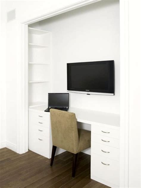 desk inside a closet 15 closets turned into space saving office nooks