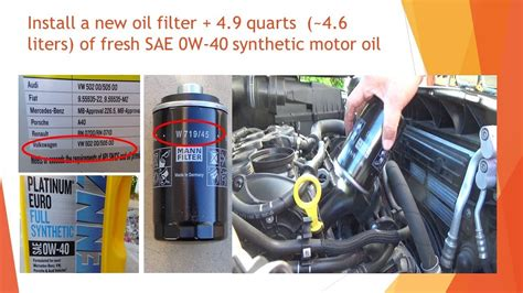 2016 Vw Tiguan 2.0 Tsi Engine Oil Change With Oil Filter