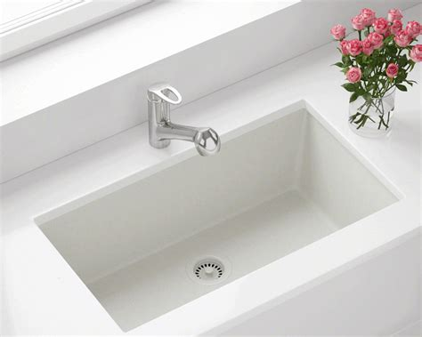 rubbed kitchen faucet 848 white large single bowl undermount trugranite kitchen sink