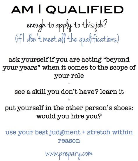 What Are Your Qualifications by Should You Apply If You Don T Meet The Qualifications