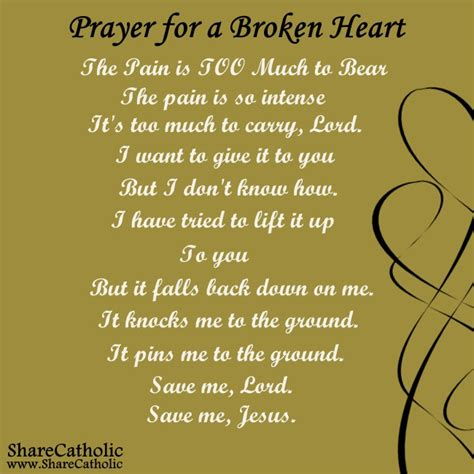prayer   broken heart