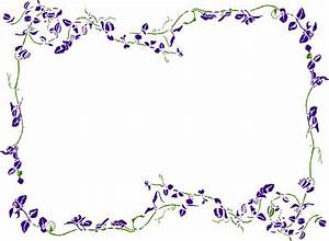 Lavender Border Clipart - Clip Art Library