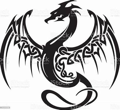 Celtic Dragon Insignia Vector Knot Fire Character