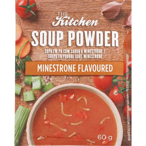 kitchen soup powder minestone flavoured  soups