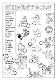 christmas worksheet esl worksheet  ineta