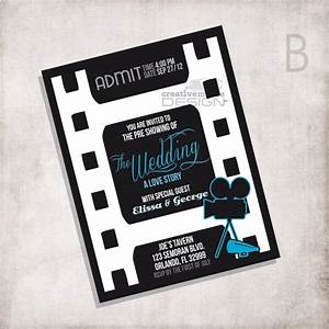 wedding invitation movie ticket file only With movie ticket wedding invitations etsy