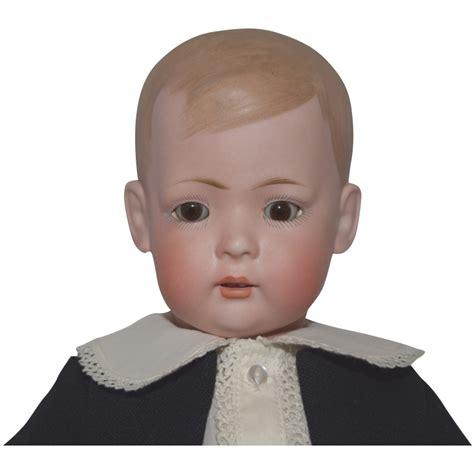 antique bruno schmidt german bisque character doll tommy