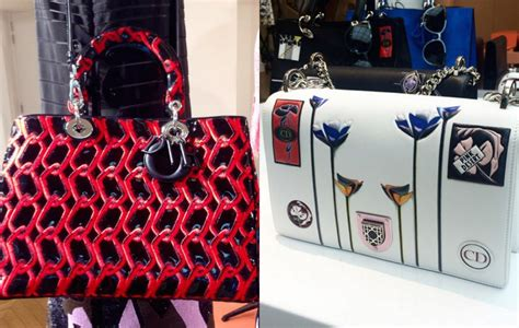 preview  dior cruise  runway bags featuring chained buckets spotted fashion