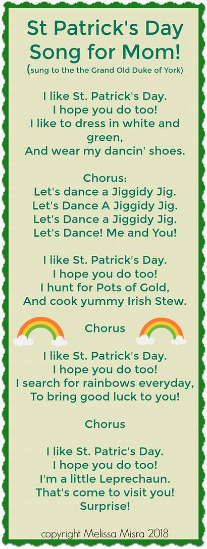 St Patrick Song Songs Activities Leprechaun Toddler