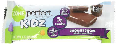 zone perfect nutrition bars kidz count chocolate cookie sugar cupcake amazon