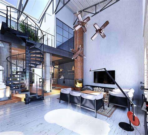 industrial style loft  kiev showcases impressive design